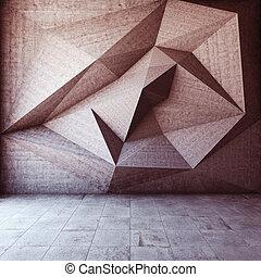 elvont, geometriai, háttér