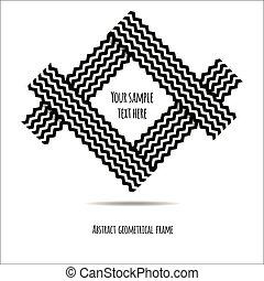 elvont, geometrikus, keret