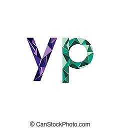 elvont, háromszög, színes, levél, kezdőbetűk