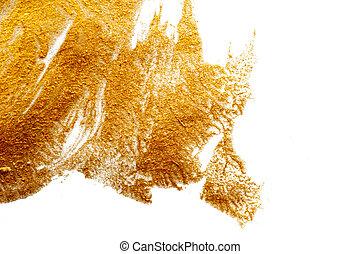 elvont, háttér, festett, noha, egy, ecset, közül, gold festmény