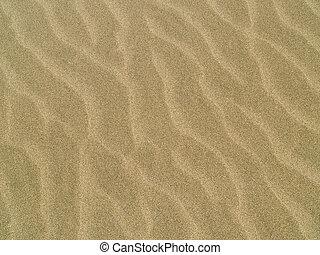 elvont, háttér, közül, homok, fodrozódik, tengerpart