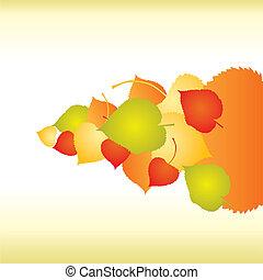 elvont, háttér, noha, ősz lap