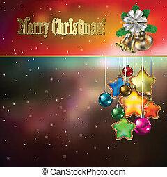 elvont, háttér, noha, christmas dekoráció