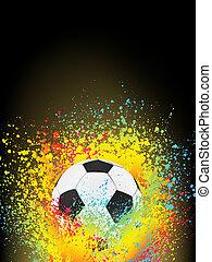 elvont, háttér, noha, egy, futball, ball., eps, 8