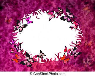 elvont, háttér, noha, pillangók