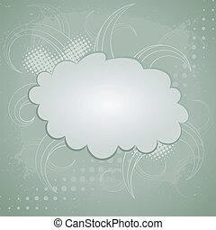 elvont, háttér, retro, felhő