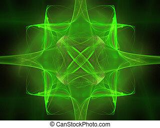 elvont, háttér., zöld, -, bíbor, palette.
