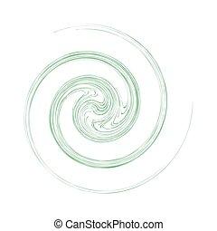 elvont, ikonok, kör alakú, spirál, kacs, fogalom, ...