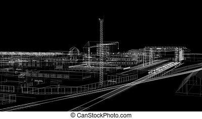 elvont, ipari, építészet