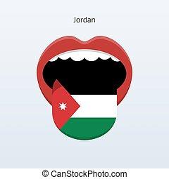 elvont, jordánia, language., emberi, tongue.