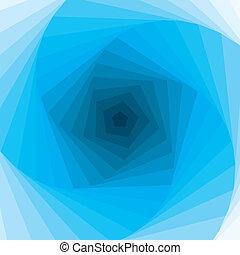 elvont, kék, swirl., vector.