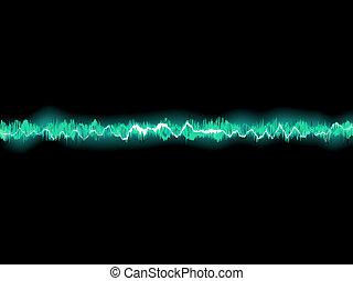 elvont, kék, waveform., eps, 8