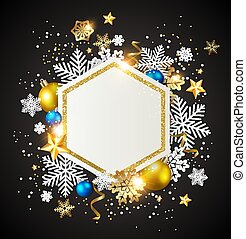 elvont, karácsony, háttér, noha, dekoráció