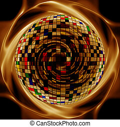 elvont, kreatív, arany, háttér, alatt, a, mód, közül, felfordulás közeg
