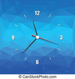 elvont, kreatív, háttér, óra