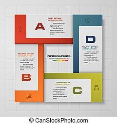 elvont, lépések, infographics., 4