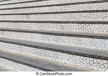 elvont, lépcsősor, és, lépések, alatt, a, city.