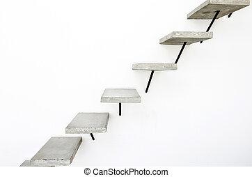 elvont, lépcsősor, alatt, belső