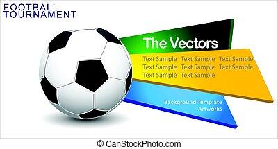 elvont, labdarúgás, (soccer), vektor, háttér