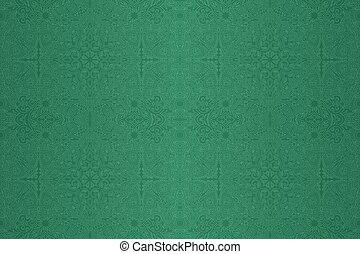 elvont, lineáris, zöld, művészet, motívum, seamless