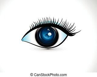 elvont, művészi, digitális, szem, .eps