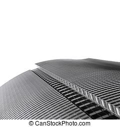 elvont, modern, fekete-fehér, építészet