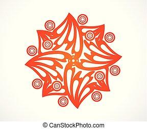 elvont, narancs, virágos, kreatív, művészi