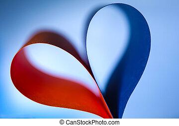 elvont, papír szív