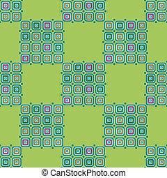 elvont, pattern., seamless, zöld háttér, geometriai