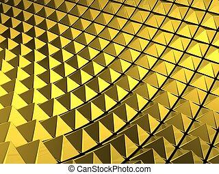 elvont, piramis, arany, háttér