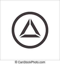 elvont, piramis, háromszög, ikon