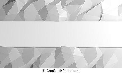 elvont, poly, alacsony, háttér, copy-space, fehér