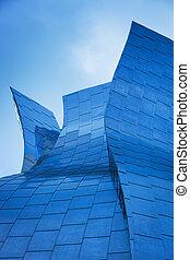 elvont, részletez, közül, modern, városi, építészet