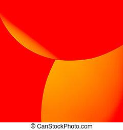 elvont, sárga, alakzat, dolgozat, kép, piros