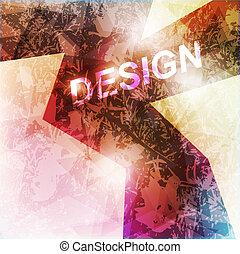 elvont, sötét, alakít, tervezés, concept., vektor, ábra