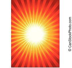 elvont, starburst, feltűnő, háttér
