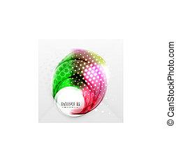 elvont, színes, futuristic, alakít, vektor, tervezés