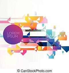 elvont, színes, háttér, vektor, tervezés