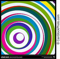 elvont, színes, karikák, háttér, vector.