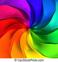 elvont, színes, meggörbült, háttér