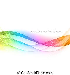 elvont, színes, vektor, hullámos, háttér