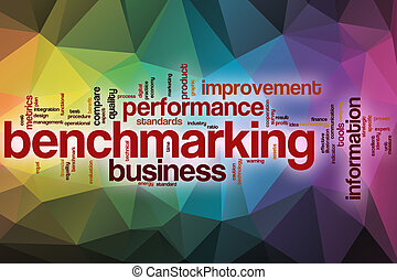 elvont, szó, felhő, háttér, benchmarking