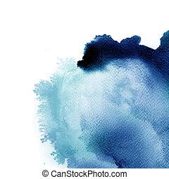 elvont, vízfestmény, kéz, festett, háttér