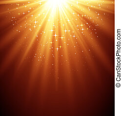 elvont, varázslatos, fény, backgroud, noha, csillag