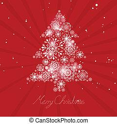 elvont, vektor, fa, karácsony