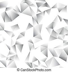 elvont, vektor, háromszög, háttér