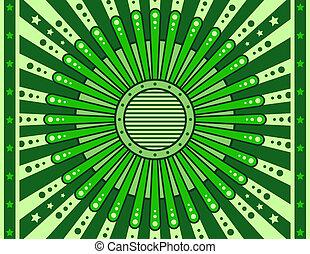 elvont, vektor, zöld, retro, háttér, tervezés