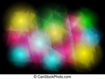 elvont, világítás, háttér