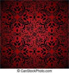 elvont, virágos, csípős piros