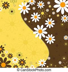 elvont, virágos, háttér, (vector)